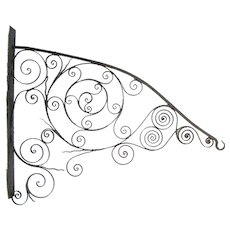 Antique Wrought Iron Sign or Lamp Hanger