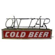 Vintage Working Neon Beer Sign