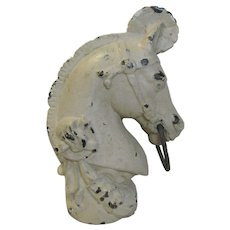 Antique Cast Iron Horse Head Hitching Post