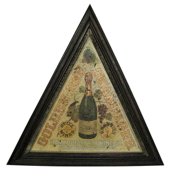Antique Hammondsport Wine Co. Painted Tin Champagne Sign