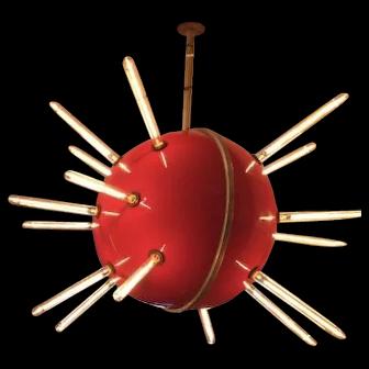 Vintage Sputnik Lighted Sign Globe