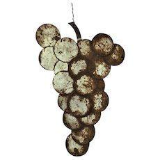 Antique Folk Art Wine Grapes Vineyard Winery Trade Sign