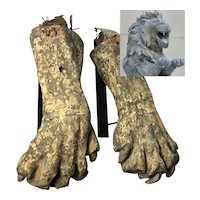 Antique Zinc Lion Paws Coney Island Steeple Chase Facade