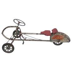 Vintage Pedal Rocket Bike Car