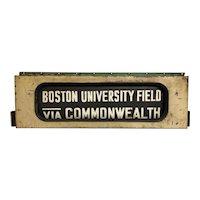Vintage Boston City Bus Destination Roll In Case