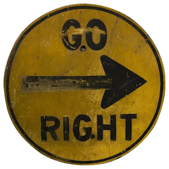 Vintage Wooden Directional Road Sign Unique