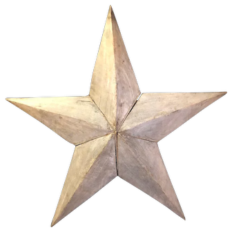 Antique Architectural Wooden Folk Art Barn Star