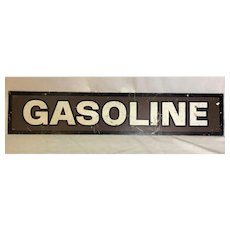 Vintage Painted Sheet Iron Gasoline Sign