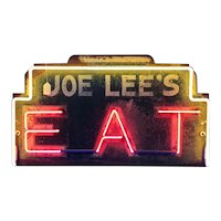 Vintage Art Deco Neon Eats Sign