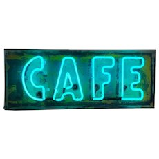 Vintage Neon Cafe Sign