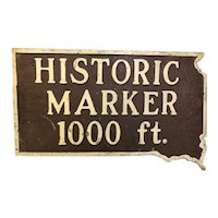 Vintage Cast Iron Historical Marker Sign South Dakota