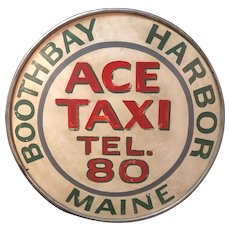 Vintage Boothbay Harbor Maine Taxi Sign