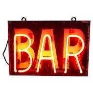 Vintage Neon Bar Sign