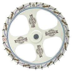 Vintage Carnival Boardwalk Game Wheel Of Chance Atlantic City Boardwalk