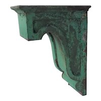 Antique Iron Corbel In Original Paint