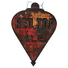 Vintage Sheet Metal Red Top Ale Beer Sign