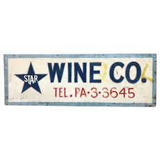 Vintage Pennsylvania Wine Company Sign