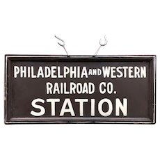 Vintage Pennsylvania Railroad Sign P & W