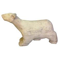 Vintage Paper Mache Polar Bear Advertising Display