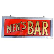 Vintage Reverse Glass Painted Bar Sign