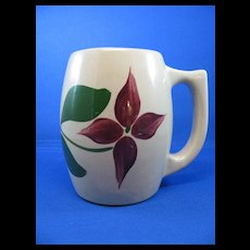 Watt Ware Star Flower  501 Barrel Shaped Mug