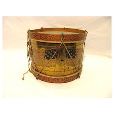 Antique Patriotic 13 Star Flag Theme Snare Drum 1897 Americana