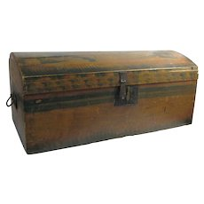 Antique New England Painted Chest Early 1800's