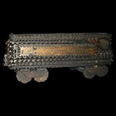 Tramp Art Train Wonderful Americana Folk Art Railroad Coal Car