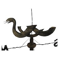 Antique Americana Folk Art Serpent Weather Vane