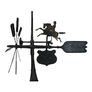 Antique Folk Art Whirligig Jockey and Horse Patent Model