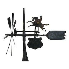 Antique Folk Art Whirligig Jockey and Horse Patent Model