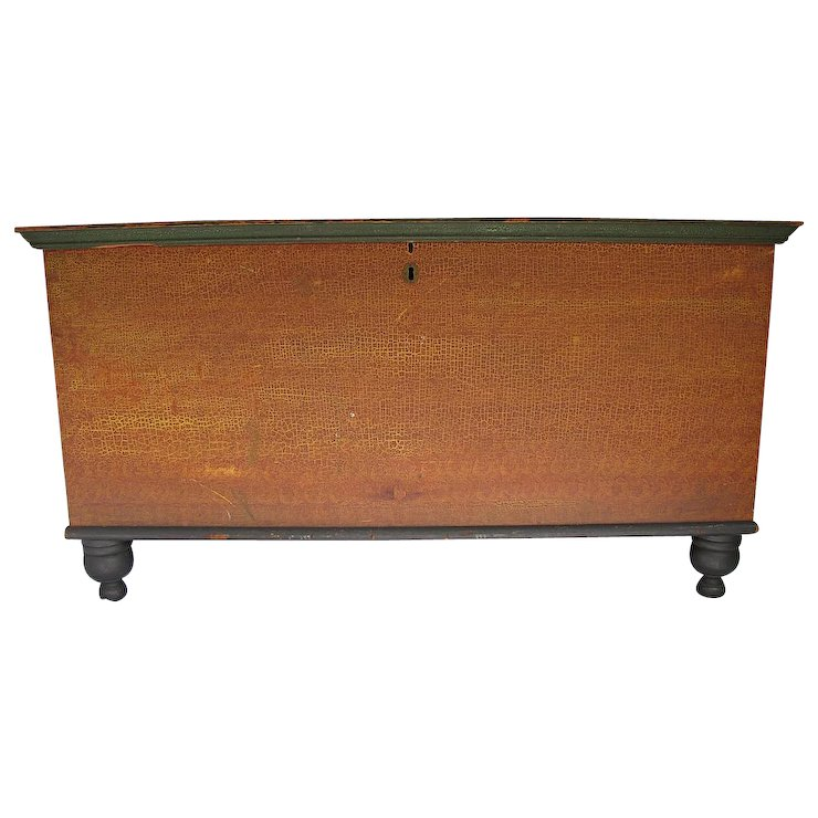 Antique Paint Decorated Blanket Chest Lancaster PA - Antique Paint Decorated Blanket Chest Lancaster PA : Finish Line