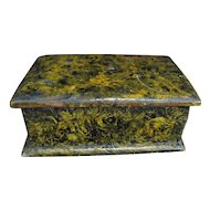 Antique Sponge Decorated Miniature Dresser Box