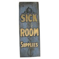 Antique Painted Wooden Trade Sign Doctor Sick Room Spa