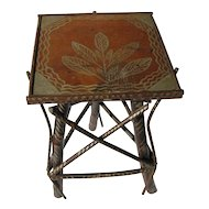 Antique Folk Country Painted Twig Stand
