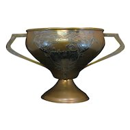 Antique Heintz Art Metal Large Trophy Cup 1914 Michigan Sterling on Bronze