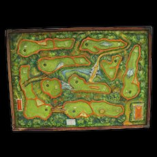 Vintage Colorful Golf Game Pressed Tin