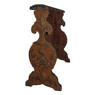 Antique Folk Art Decorated Arm Rest Wooden