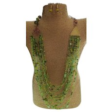 Made in Kenya Multi Strand Maasai Tribal Bead Statement Necklace