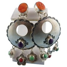 Don Lucas Sterling Silver Precious Stone Earrings
