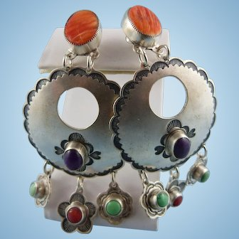 Don Lucas Sterling Silver Precious Stone Earrings