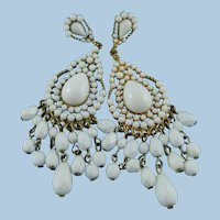 KJL Kenneth Jay Lane Summer White Chandelier Post Earrings