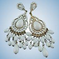 KJL Kenneth Jay Lane Summer White Chandelier Post Earrings