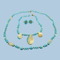 Signed Miriam Haskell Two Necklace And Earring Set