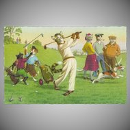 Mainzer Dressed Cats Postcard - On the Golf Course - Printed in Belgium