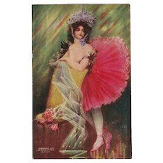 Vintage Postcard of Dancer La Fauvette 1907