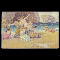 Artist Signed Thomas Maybank Postcard of The Syrens' Isle - Red Tag Sale Item