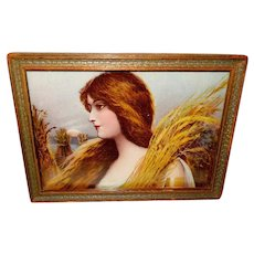 Beautiful Lady with Wheat by Ullman Mfg Company