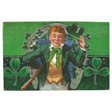 Embossed St. Patrick's Day Postcard of Leprechaun Postmarked 1913