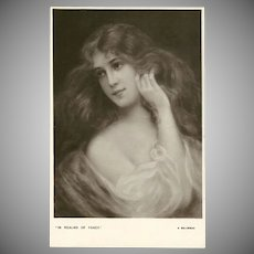 Early 1900's Postcard by E.W. Savory - Beautiful Women Series - 1 of 5